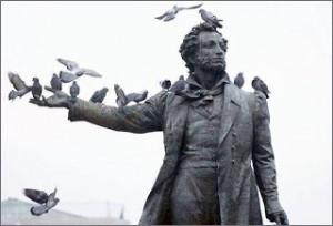 Naści Puszkina.Ten pomnik wygląda tak melancholijnie, że nie mogłam się oprzeć.