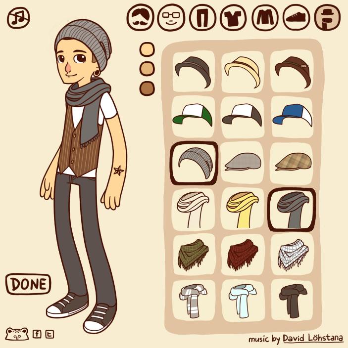 Model do składania. Taka minigierka istnieje, jest dostępna tu, o: http://www.dolldivine.com/hipster-dress-up-game.php